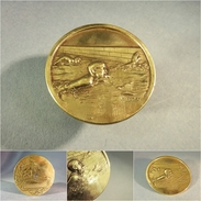 *MEDAILLE NATATION H.DEMEY - Sport Récompense Art Déco Sportif - Swimming
