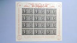 Schweiz 419 Block 9 **/mnh, 100 Jahre Schweizerische Briefmarken, 25 Jahre Schweizerische Nationalspende