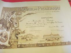 Diplôme/Médaille De Bronze/L'Avenir Du Prolétariat/Soc.Civ./Comité De Paris/Roger LAMY/Boire Fondateur/1927   DIP192 - Diplomi E Pagelle