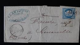France - LEnv - GC 3148 - 25c Cérès  N° 60  - Année 1871 - 1849-1876: Classic Period