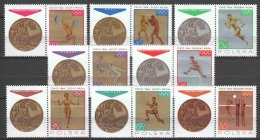 Poland 1965 Mi 1623-1630ZF MH SUMMER OLYMPICS - Unused Stamps