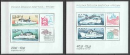 Poland 1986 Mi Blocks 98 + 99 MNH BOATS - Boten