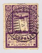 Schweiz 1913 Flugpost Vorläufer VI Langnau Entwertet 4.5.1913 - Luftpost