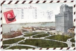 U2045 AQUARIUM AND BATTERY PARK NEW YORK 1912   2 SCANS - Non Classificati