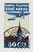 Schweiz 1913 Flugpost Vorläufer I AARAU 50 Cts Entwertet 6.4.1913 Attest Rellstab - Poste Aérienne