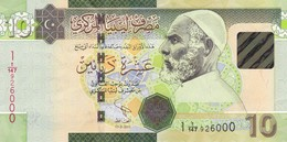 LIBYA 10 DINARS ND 2012 P-78  VF - Libya