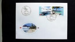Schweiz 2464/5 FDC, 80 Jahre Diplomatische Beziehungen Mit Der Dominikanischen Republik: Naturlandschaften
