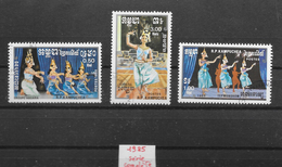 Art Cultures Danse Kampuchea N°543 à 545 1985 O
