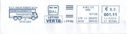 VIALAT Robert Déménagements Transports - Uzès - 28-11-2016 BAL Lettre Verte - Fragment