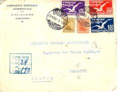 LETTRES CIE GÉNÉRALE AÉROPOSTALE Agence De Montevideo 1929 - Kommerzielle Luftfahrt