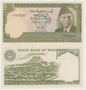 Pakistan 10 Rupies 1981-82 Pick 34 AUNC - Pakistan