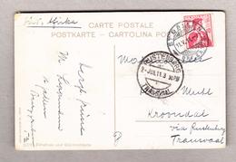 Schweiz 11.5.1911 St Gallen AK Bild Zürichsee Nach Kroondal Transvaal Transit-O Rustenburg - Suisse
