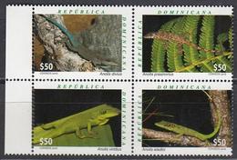 Dominican Republic 2016 Reptiles Lizards 4v MNH