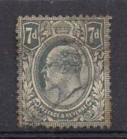 INGHILTERRA   1909  EFFIGE EDOARDO VII  UNIF.123 USATO VF