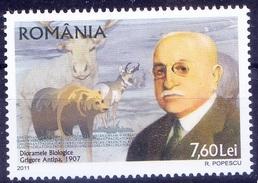 Romania 2011 MNH, Grigore Antipa Biologist Darwinian Oceanologist