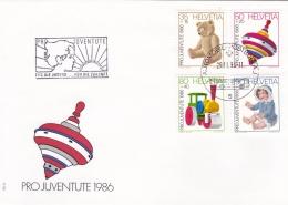 Switzerland FDC 1986 Pro Juventute Children Toys  (T7A19)