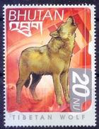 Tibetan Wolf, Wild Animals, Bhutan MNH
