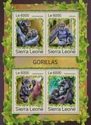 Sierra Leone. 2016 Gorillas. (1218a)