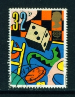 GREAT BRITAIN  -  1989  Europa  Games And Toys  32p  Used As Scan - Used Stamps