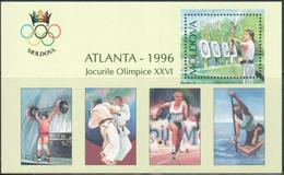 "Moldova 1996  "" Summer Olympic Games In Atlanta"" SS Quality:100%"
