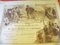 Diplôme/Ministére De L'Intérieur/Soc. De Secours Mutuels/Mention Honorable/BRETON /Senonches/Eure & Loir/1900    DIP199 - Diplomi E Pagelle