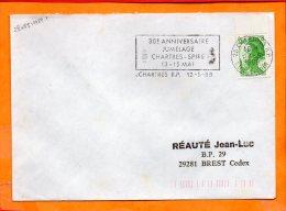 EURE ET LOIR, Chartres, Flamme à Texte, 30e Anniversaire Julelage Chartres-Spire - Postmark Collection (Covers)