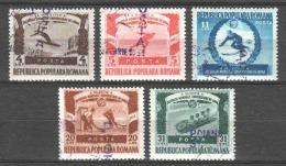 Romania 1951 Mi 1247-1251 Canceled