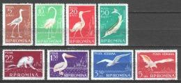 Romania 1957 Mi 1686-1693 MNH (READ) BIRDS