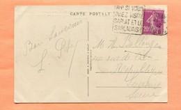 M2  DAGUIN  TEXTE A GAUCHE  SARLAT SUR SEMEUSE LILAS 20 C 1932 - Marcophilie (Lettres)