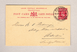 GB TRANSVAAL Ganzsache 1 Penny Pretoria 30.4.1914 Nach Aarau - Afrique Du Sud (...-1961)