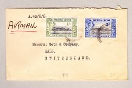 GB SIERRA LEONE Luftpost Brief Nach Basel Mir 1Sh.und 3p - Sierra Leone (...-1960)