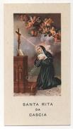 SANTINO HOLY CARD - SANTA RITA DA CASCIA - CON PREGHIERA SUL RETRO - Santini