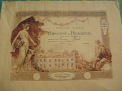 Diplôme D'Honneur/Mention Honorable/ Soc. Nat. D'Encouragement à La Mutualité/BAZOLA/Vers 1905-10   DIP201 - Diplomi E Pagelle