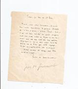 JEAN DE GOURMONT (LE MESNIL VILLEMAN 1877 PARIS 1928) ECRIVAIN FRANCAIS LETTRE ADRESSEE A GABRIEL REUILLARD 1926 - Autographes