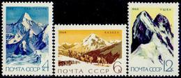USSR, 1964. 3055-3057 (3139-3141) CLIMBING THE SOVIET