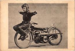 Equilibriste Acrobate Moto - Rare - écrite Au Verso - Circo