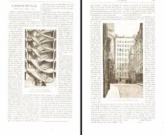 LA MAISON à NEUF ETAGES DANS LE PASSAGE BADZIVILL A PARIS Rue DE VALOIS  1896 - France