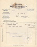 13 MARSEILLE FACTURE 1958 Raffienerie ZENITH MOTOR OIL    - Z12 - France