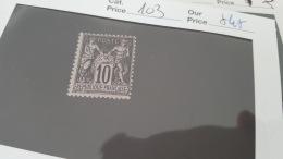 LOT 343347 TIMBRE DE FRANCE NEUF* N°103 VALEUR 45 EUROS