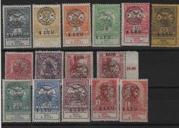 Roumanie _ Transyvalnie_ Timbres De Hongrie Surchargé Série 1 /13  (1916 /18) - Otros