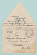 AUT.4 Censures/Zensur KuK Reserve Spital Braunau In Böhmen Militärpflege 26 X 17+ Malaria Réserve Spital - 1850-1918 Imperium