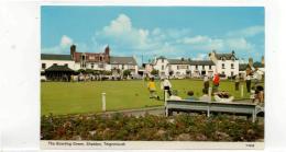 Postcard - The Bowling Green, Shaldon, Teignmouth Devon Very Good - Unclassified