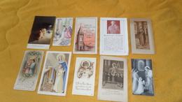 LOT DE 10 IMAGES RELIGIEUSES / PIEUSES TOUT EPOQUE. PLUSIEURS DATE ET LIEU. - Devotieprenten