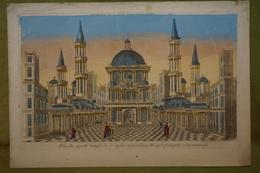 Vue D'optique XVIIIème - Turquie - Vue Du Superbe Temple De Ste Sophie Aujourd'hui Mosquée Principale à Constantinople - Estampes & Gravures