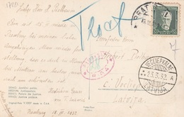 17281# TCHECOSLOVAQUIE CARTE POSTALE BRNO Obl BRATISLAVA 1932 PRESSBURG TAXE RIGA VECLIEPKALNE LATVIJA LETTONIE