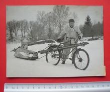 Sweden 1948 - Military Maneuvers Of Swedish Army, Bike Bicycle - Wirephoto, Press Photo --- Suède Schweden --- 39 - Suède