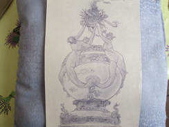 DESSIN . FISCHGLAS 1890 - Vieux Papiers