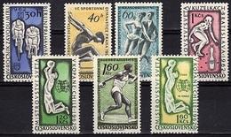 TCH 78 - TCHECOSLOVAQUIE N° 1194/99 + 1225 Neufs Sports Divers