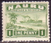 NAURU 1924 SG #27A 1d MNH! Rough Surfaced, Greyish Paper - Nauru
