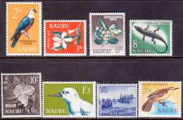 NAURU 1963-65 SG #57-64 Compl.set MNH Flora & Fauna - Nauru